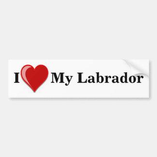 Ik houd van Mijn Labrador Bumpersticker