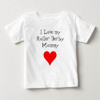 Ik houd van mijn Mama van de Derby van de Rol Baby T Shirts