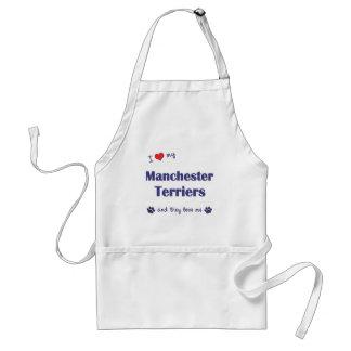 Ik houd van Mijn Manchester Terriers (Veelvoudige  Standaard Schort