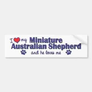 Ik houd van Mijn Miniatuur Australische Herder (Ma Bumpersticker
