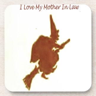 Ik houd van mijn moeder in wet drankjes onderzetter