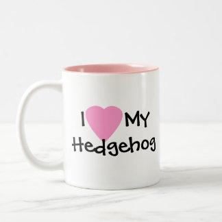 Ik houd van Mijn Mok van de Koffie van de Egel