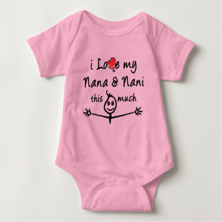 Ik houd van mijn Nana & Nani (Oma & Opa)! Romper