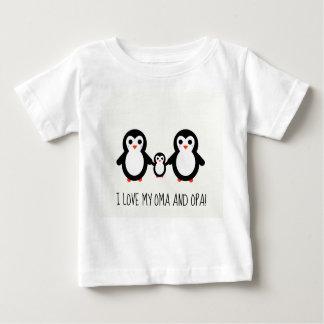 Ik houd van mijn Oma en Opa! De zoete Tekening van Baby T Shirts