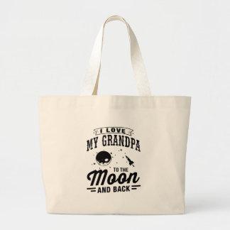 Ik houd van Mijn Opa aan de Maan en de Rug Grote Draagtas