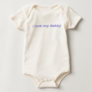 Ik houd van mijn papa! (blauw) baby shirt