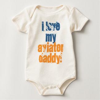 Ik houd van mijn Papa van de Vliegenier Baby Shirt