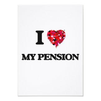 Ik houd van Mijn Pensioen 12,7x17,8 Uitnodiging Kaart