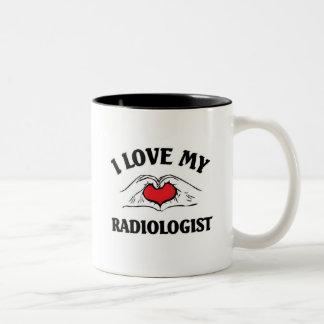 Ik houd van mijn Radioloog Tweekleurige Koffiemok
