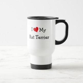Ik houd van Mijn Rat Terrier Reisbeker