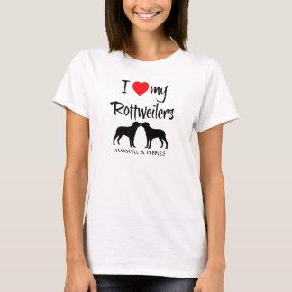 Ik houd van Mijn Rottweilers T Shirt