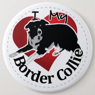 Ik houd van Mijn Schattige Grappige & Leuke Hond Ronde Button 6,0 Cm