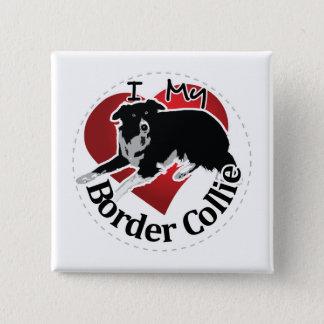 Ik houd van Mijn Schattige Grappige & Leuke Hond Vierkante Button 5,1 Cm