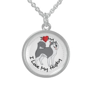 Ik houd van Mijn Schor Hond Sterling Zilveren Kettingen