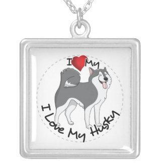 Ik houd van Mijn Schor Hond Zilver Vergulden Ketting