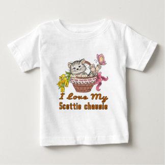 Ik houd van Mijn Scottie chausie Baby T Shirts