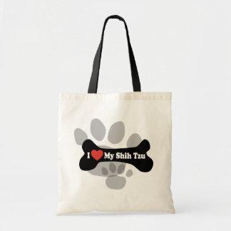 Ik houd van Mijn Shih Tzu - het Been van de Hond Draagtas