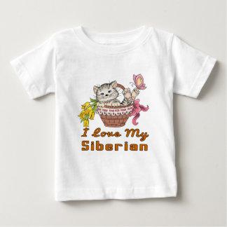 Ik houd van Mijn Siberiër Baby T Shirts
