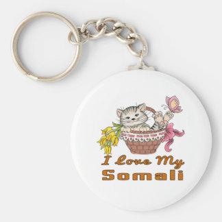 Ik houd van Mijn Somaliër Basic Ronde Button Sleutelhanger
