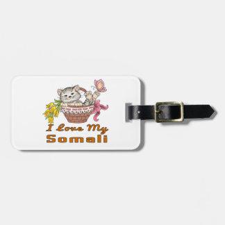 Ik houd van Mijn Somaliër Kofferlabels