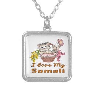 Ik houd van Mijn Somaliër Zilver Vergulden Ketting