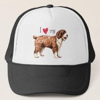 Ik houd van mijn Spaanse Hond van het Water Trucker Pet