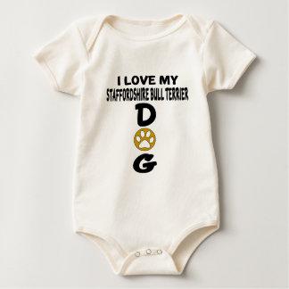 Ik houd van Mijn Staffordshire Bull terrier aDog Baby Shirt