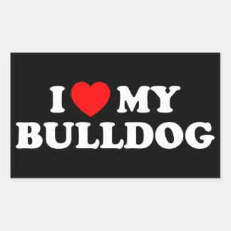 Ik houd van mijn Sticker van de Buldog