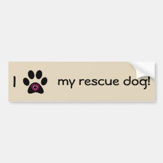 Ik houd van Mijn Sticker van de Bumper van de Hond