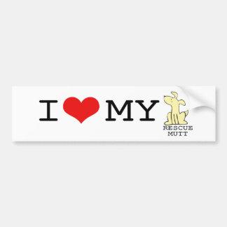 Ik houd van Mijn Sticker van de Bumper van de Stra