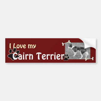 Ik houd van mijn Sticker van de Bumper van Terrier
