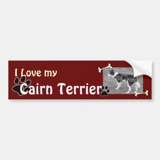 Ik houd van mijn Sticker van de Bumper van Terrier Bumpersticker