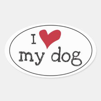 Ik houd van Mijn Sticker van de Hond
