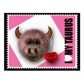 Ik houd van Mijn Stier Briefkaart