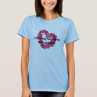 Ik houd van mijn studenten met autisme t shirt