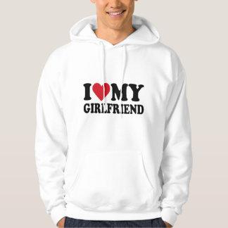 Ik houd van Mijn Sweatshirt Met een kap van het
