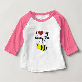 Ik houd van mijn T-shirt van de Bij van de Honing