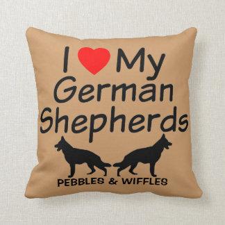 Ik houd van Mijn TWEE Duitse herders Sierkussen