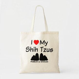 Ik houd van Mijn TWEE Honden van Shih Tzu Draagtas