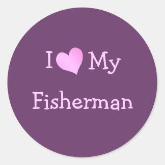 Ik houd van Mijn Visser Ronde Sticker