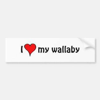 Ik houd van Mijn wallaby Bumpersticker