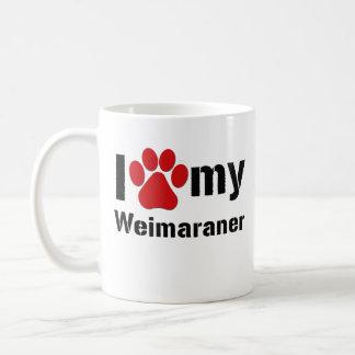 Ik houd van Mijn Weimaraner Koffiemok