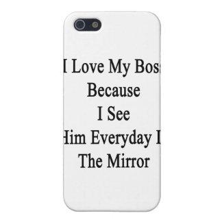 Ik houd van Mijn Werkgever omdat ik hem elke dag iPhone 5 Cases