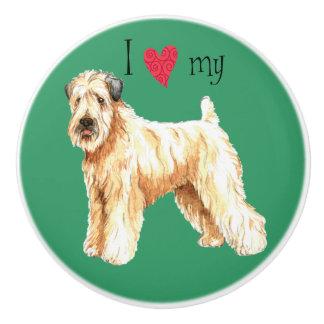 Ik houd van mijn Wheaten Terrier Keramische Knop