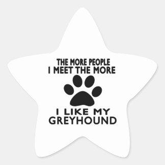 Ik houd van mijn Windhond Stervormige Sticker