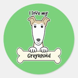 Ik houd van Mijn Windhond Sticker