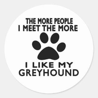 Ik houd van mijn Windhond Ronde Stickers