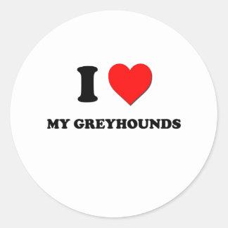 Ik houd van Mijn Windhonden Sticker