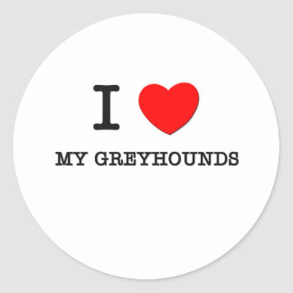 Ik houd van Mijn Windhonden Ronde Stickers