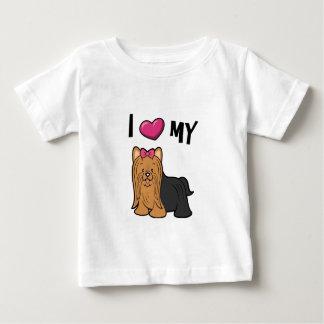 Ik houd van mijn Yorkie Baby T Shirts